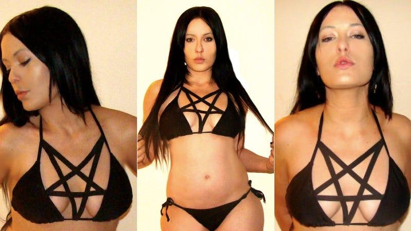 Pentagram Bikini: For the Sunbather Unafraid of Satanic Tan Lines