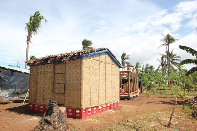 This Disaster Housing Is Made From Cardboard and Coke Crates