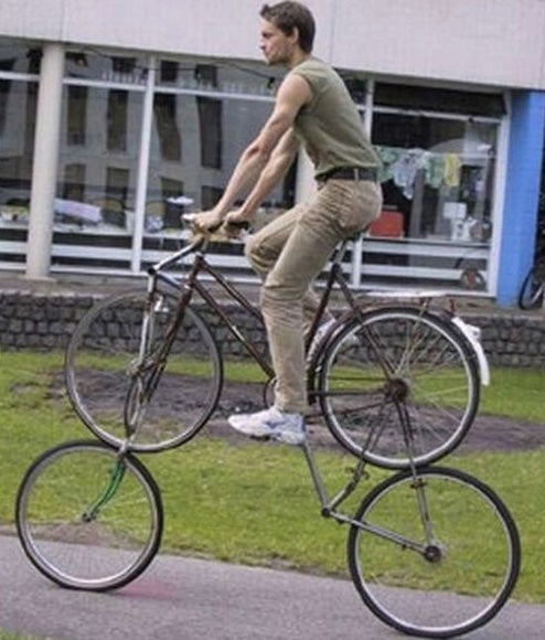 Double Bike Takes You on a Supremely Ridiculous Ride
