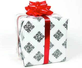 Wrap Nerds' Gifts in QRapping Paper for Further Unlockable Treats