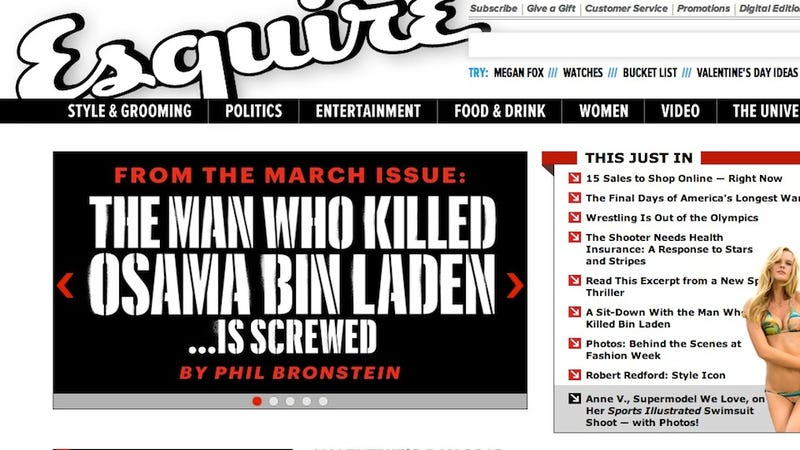 Esquire Editors: If You Complain About Our Botched Bin Laden Shooter Story, You Hate the Troops