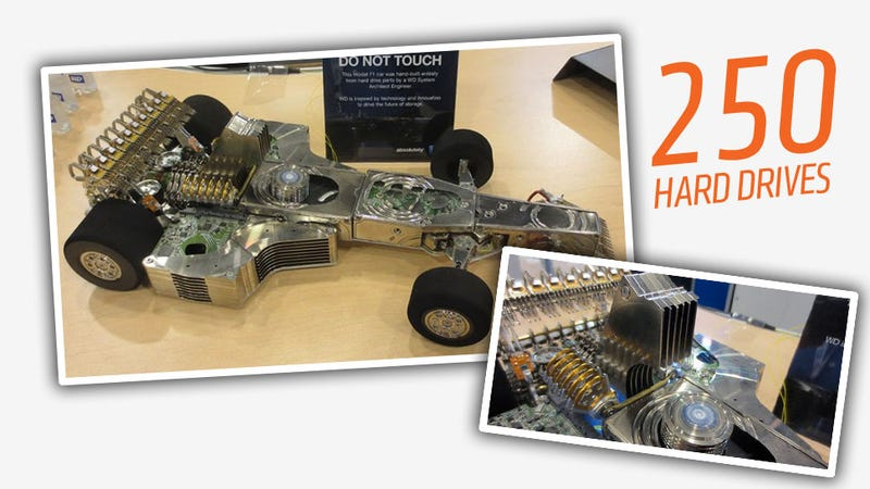 Look At This Amazing F1 Car Made From 250 Hard Drives