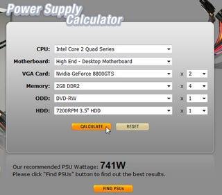 Asus power supply wattage calculator