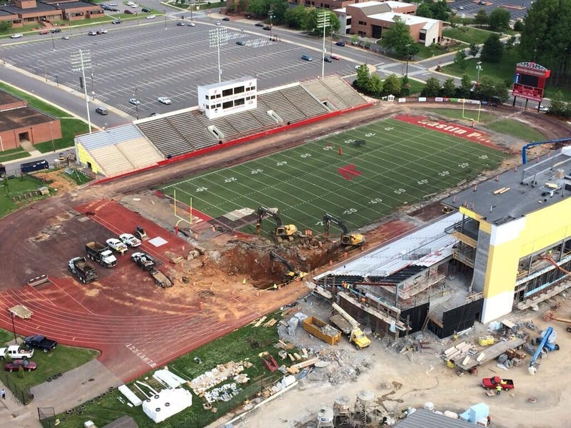 Giant Sinkhole Opens At Austin Peay's Football Stadium