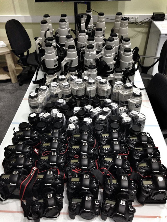 This is what $425,659.59 in camera gear looks like
