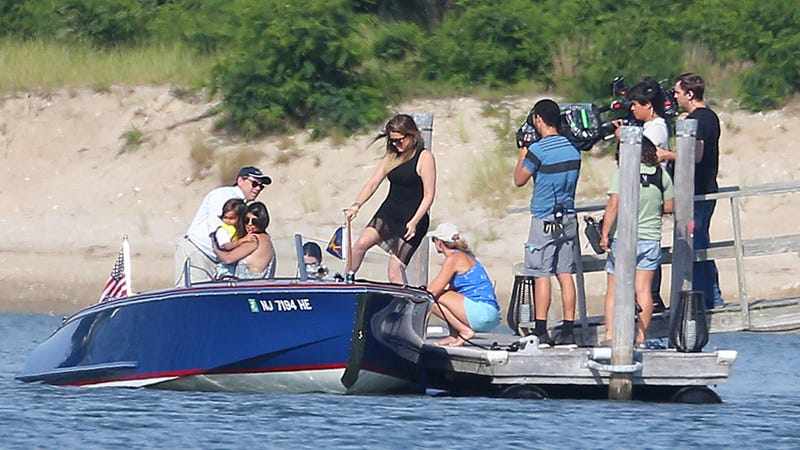 Paparazzi in the Hamptons Hunt Kardashians by Land and Sea