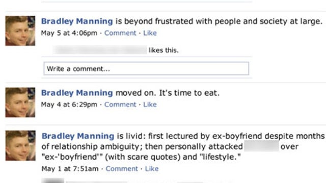 Bradley Manning's Lost Facebook Page