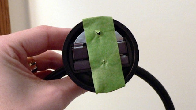 Drill the Right Holes for Tricky Fixtures with a Strip of Tape