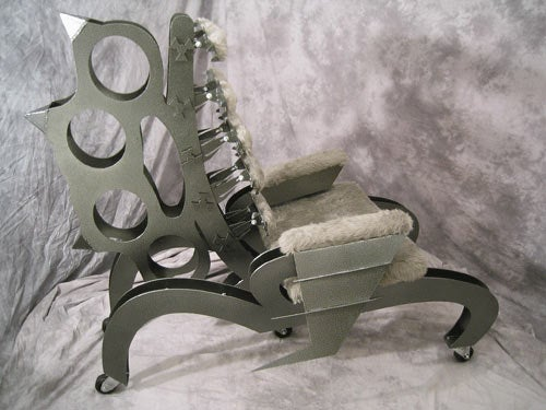 Brass Knuckle Chair Punches Your Butt With Comfort