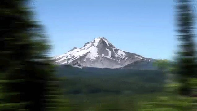 Spin around a mountain in super speed like Superman
