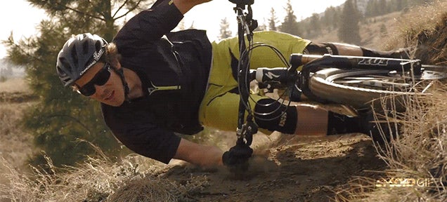 Watch this guy ride his bike completely parallel to the ground