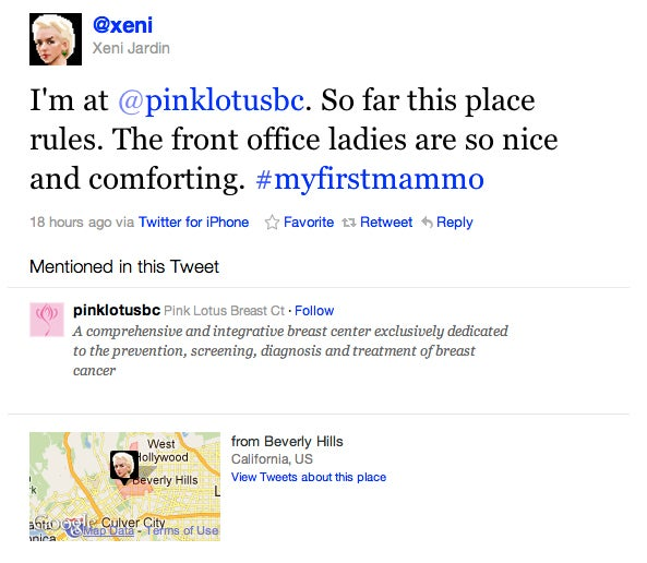 Xeni Jardin Live-Tweets Her First Mammogram, Is Diagnosed With Cancer