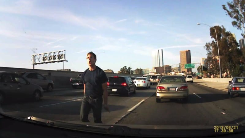 Watch This Racist Idiot Commit Unbelievable Acts Of Road Rage