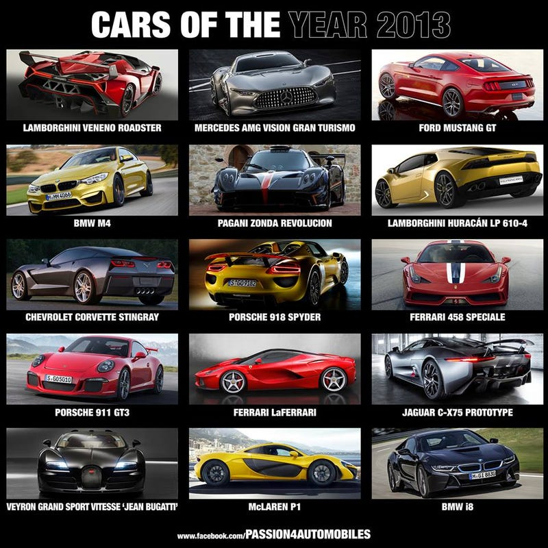What's Your Favorite Car Introduced In 2013?