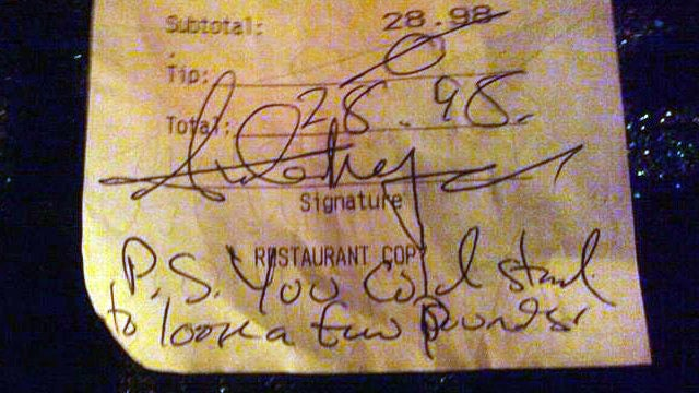 Waitress Who Called Out Jerk Tipper Got the Wrong Guy