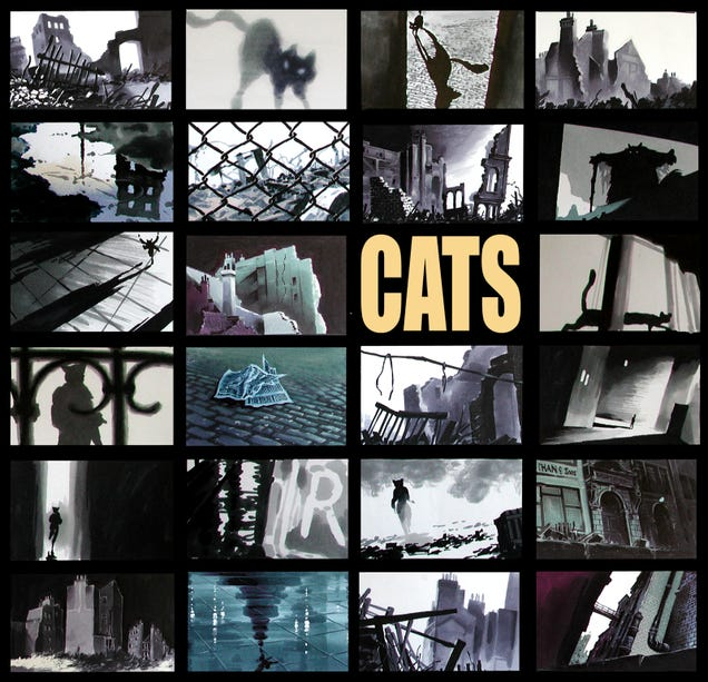 Stunning Concept Art For Spielberg's Animated Cats Movie That Never Was