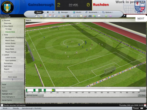 Football Manager Gets Steamed Up