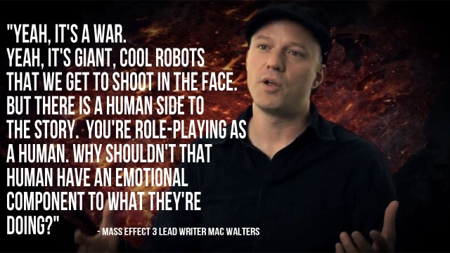 Mass Effect 3 Won't Be All Shooting Giant Robots in the Face