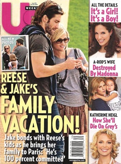 This Week In Tabloids: Lindsay's Gay, Reese & Jake On Vacay, Honor's OK!