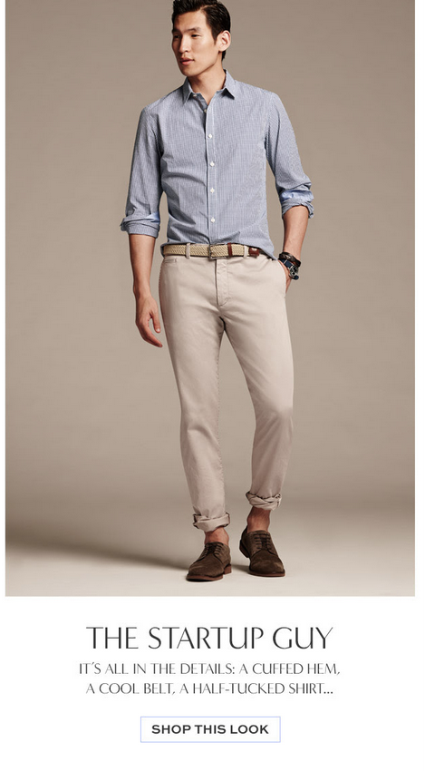 Banana Republic's Latest Fashion Line: 'The Startup Guy'