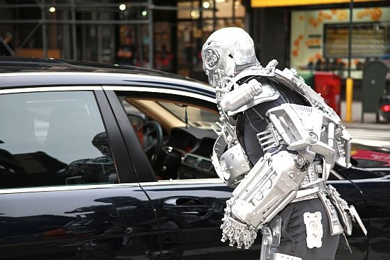 Terminator's T-800 Walks the Streets of Brooklyn