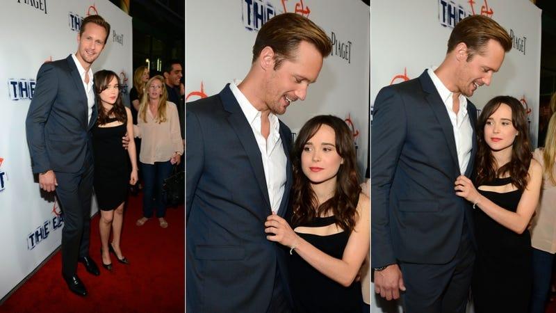 Your Friend Ellen Page Snuggles Your Boyfriend Alexander Skarsgard