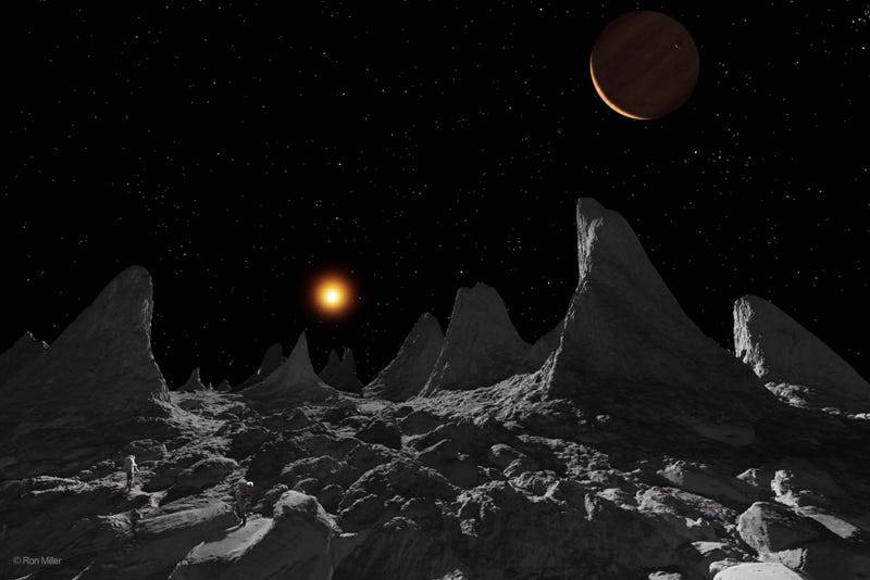 The weirdest moons in the solar system, and what it would look like to stand on them