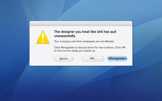 This is How a Pissed Off Designer Quits His Job