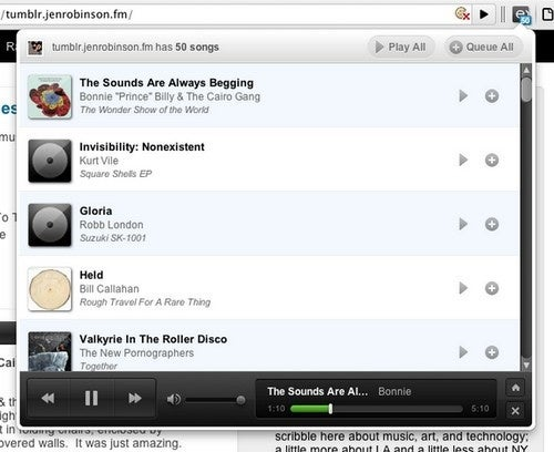 ExtensionFM Turns the Web into Your Personal Jukebox