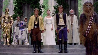 <em>Star Wars</em> last scene without the music is impossibly hilarious