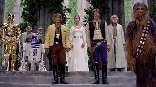 <em>Star Wars</em> last scene with