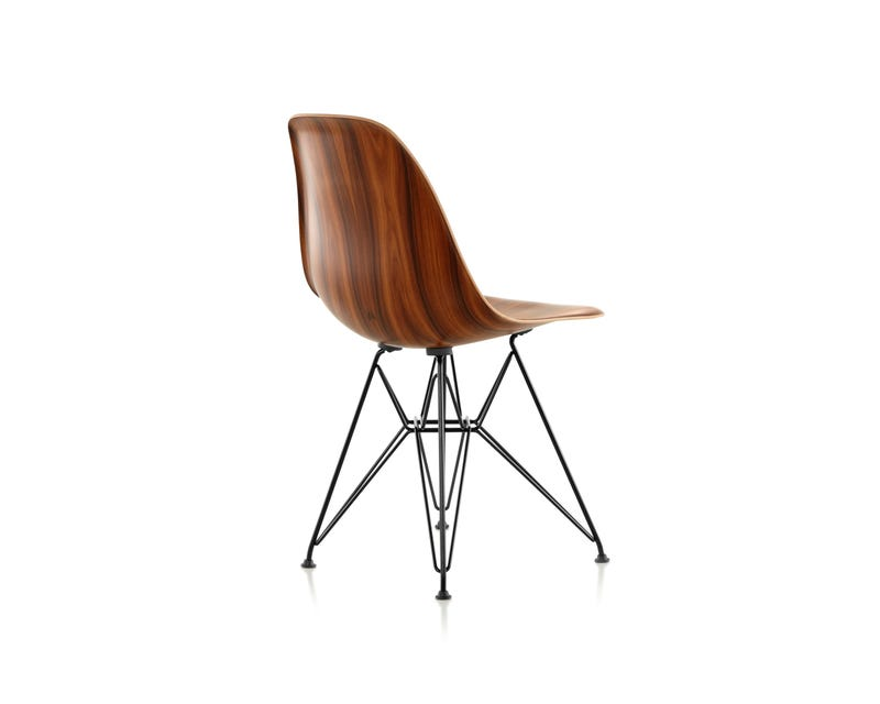 Eames Molded Wood Chair, Wire Base. Yum.