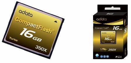 A-DATA Turbo Series CF 350X Is the World's Fastest Compact Flash Card