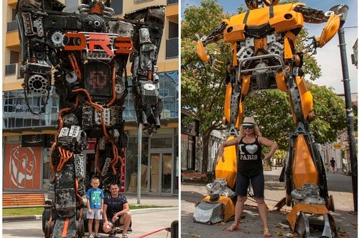 Transformers from scrap metal on the streets of Podgorica!