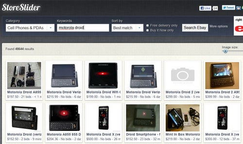 StoreSlider Is a Fast, Visual, and User-Friendly eBay Search Engine