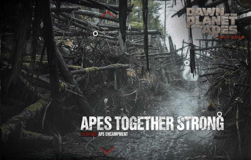 First Look at the Ape Headquarters in Dawn of the Planet of the Apes
