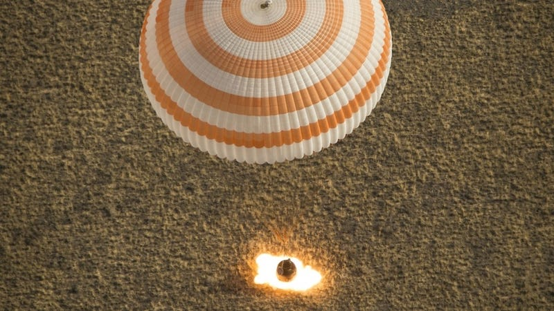 Astronauts Arrive Home in a Brilliant Ball of Fire