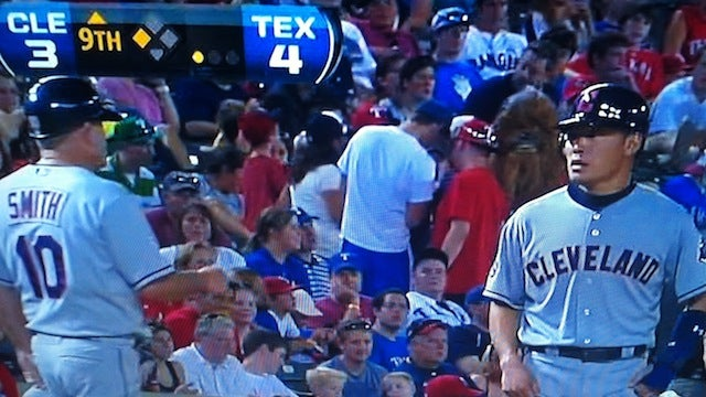 Someone Wore A Big, Furry Chewbacca Mask To The Rangers-Indians Game Last Night, When It Was 106º Out