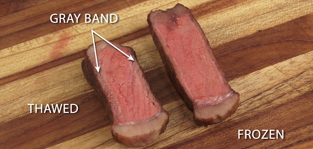 Science: It's better to cook a frozen steak than a thawed steak