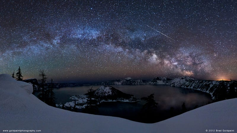 The most spectacular photograph of last weekend's Lyrid meteor shower