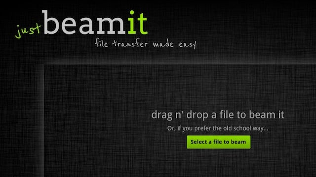 Justbeamit Makes Transferring Large Files Super-Easy