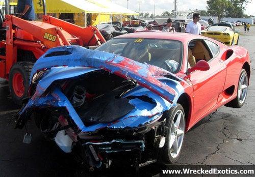Ferrari 360 Owner Hits Track, Track Hits Back