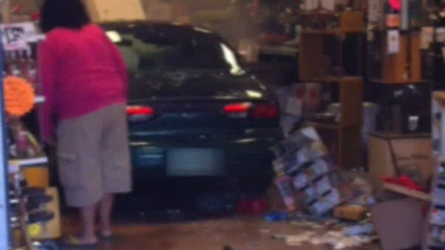 Driver Has Odd Explanation After DUI Arrest For Crashing Car Into Liquor Store