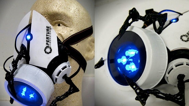 Aperture Science gas mask turns your face into a Portal gun