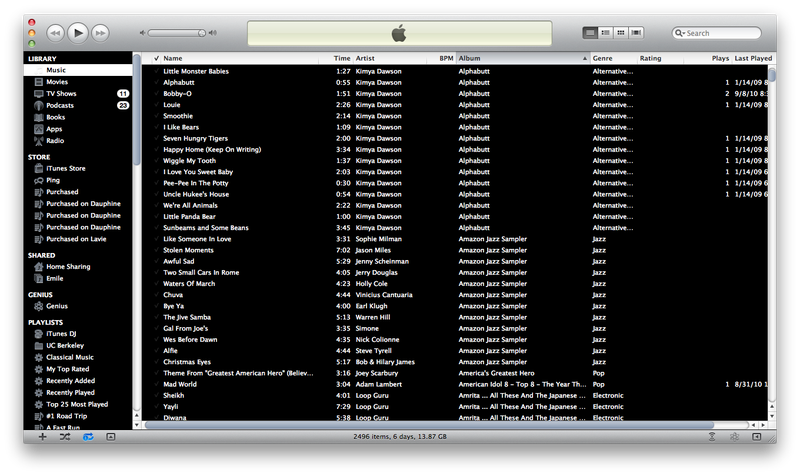 "Enable ""High Contrast Mode"" in iTunes 10"