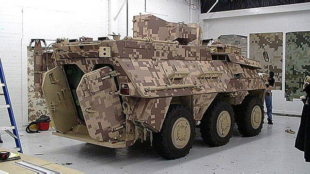 Leaked Photos Show 8-Bit Camouflage Military Vehicle