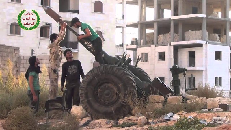 Meet The Hell Cannon, The Free Syrian Army's Homemade Howitzer