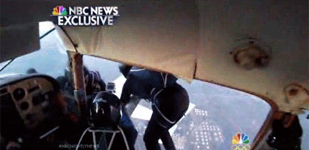 Amazing video of people jumping off two planes colliding in mid-air