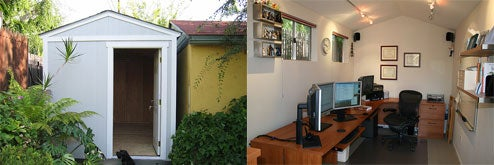 Backyard Shed Turned Home Office