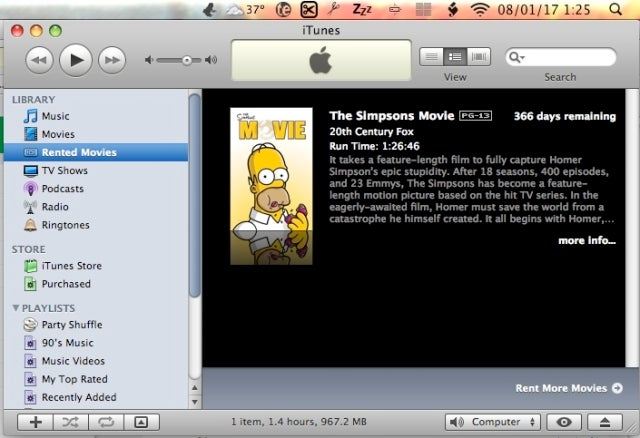 Confirmed: Change Your System Time, Watch Your iTunes Rentals Forever